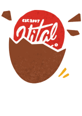 Illustration of the Vital Farms Logo hatching out of a brown egg.