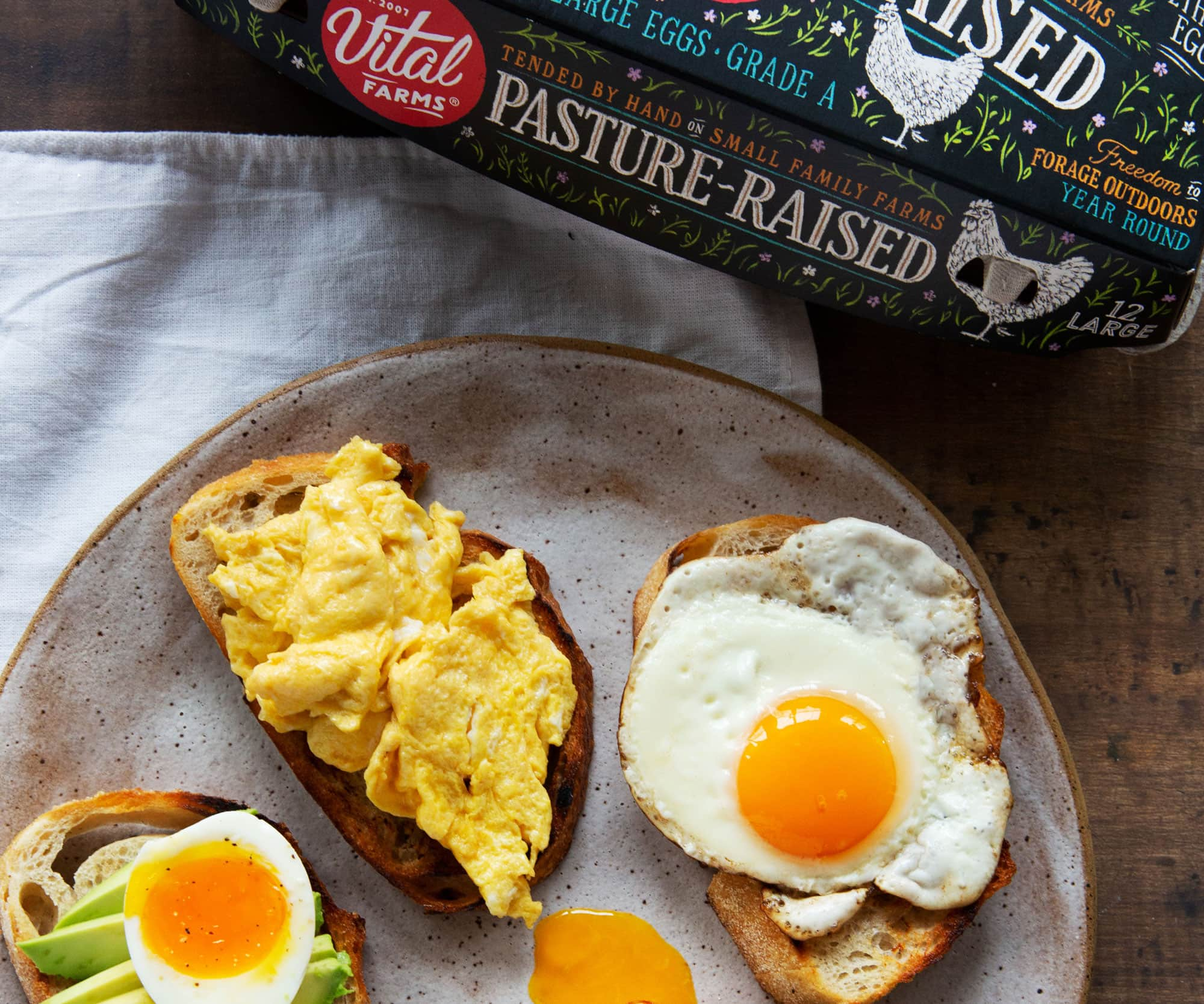 Photo of different types of eggy toast