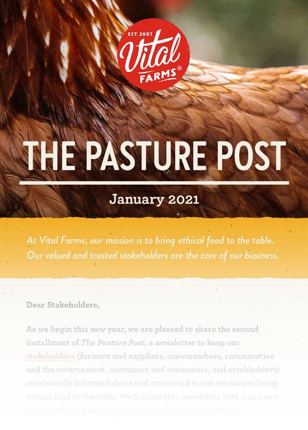 January Pasture Post