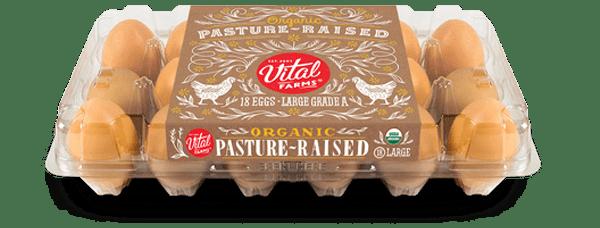 Pasture-Raised Organic Eggs 18 Ct Large Carton
