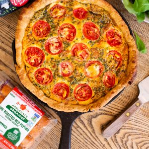 Summer Quiche with Corn, Tomatoes and Sausage
